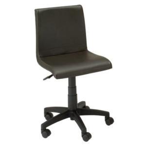 デスクチェア イス 椅子 背もたれ 合成皮革 PVC ポリエステル キャスター ガス圧 EDC-4130 ダークブラウン色 kinositakagu