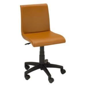 デスクチェア イス 椅子 背もたれ 合成皮革 PVC ポリエステル キャスター ガス圧 EDC-4138 ブラウン色 kinositakagu