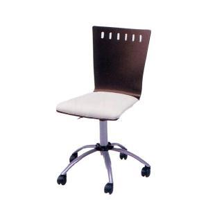 ブラウンチェア 椅子 RS-C2186 肘無し 布張り ガス圧 昇降式 キャスター kinositakagu