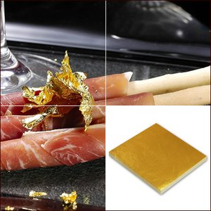 食品用金箔「純金の華(109mm角/100枚)/竹箸(中)付」|kinpakuya