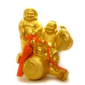 金箔貼 恵比寿・大黒天置物「小槌 福の神」|kinpakuya