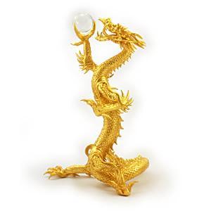 金箔貼 龍置物「皇龍」|kinpakuya