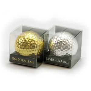 金箔・銀箔ゴルフボール「Gold×Silver Leaf Balls」|kinpakuya