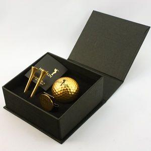 「純金箔24Kゴルフボールセット化粧箱入」|kinpakuya