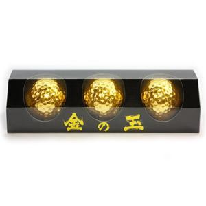 金箔ゴルフボール「金の玉(3個入)」|kinpakuya