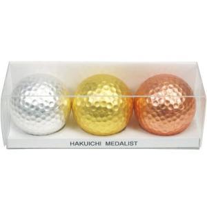 金箔・銀箔・銅箔貼りゴルフボールセット「MEDALIST」|kinpakuya