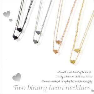 2連ハートネックレス(全4種)|kinpakuya