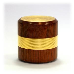 欅 千筋茶筒[金箔]金箔筋|kinpakuya