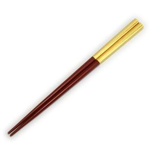 金箔箸 「半塗・朱」|kinpakuya