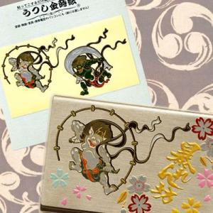 うつし蒔絵シール「風神・雷神/大」|kinpakuya