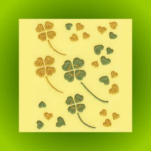蒔絵シール「四ツ葉のクローバー」|kinpakuya