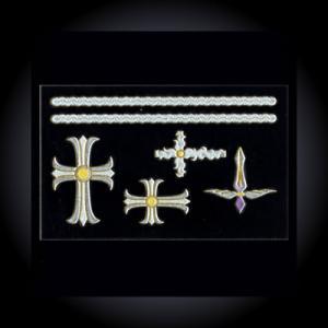 蒔絵シール「十字架(パピルス)」|kinpakuya