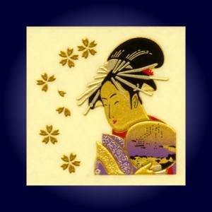 金蒔絵うつし絵「美人画」|kinpakuya