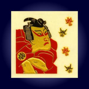 金蒔絵うつし絵「歌舞伎」|kinpakuya