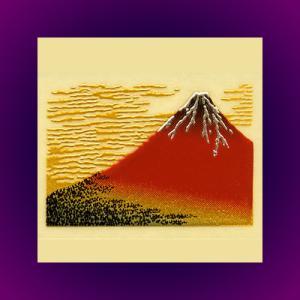 浮世絵 うつし金蒔絵「赤富士」|kinpakuya