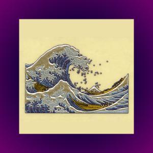 浮世絵 うつし金蒔絵「浪裏」|kinpakuya