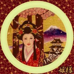 金箔シール[JAPANシリーズ/姫様] kinpakuya