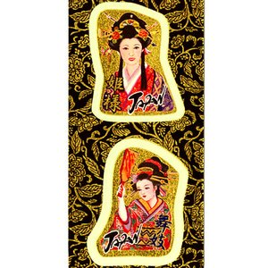 金箔シール(ミニ)「姫様(ヌキ型)」 kinpakuya