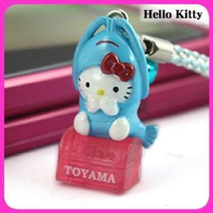 【海外販売NG】 ご当地キティ 富山限定「白えび(ブルー)/根付」|kinpakuya
