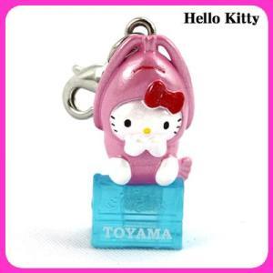 【海外販売NG】 ご当地キティ 富山限定「白えび(ピンク)/ファスナーマスコット」|kinpakuya