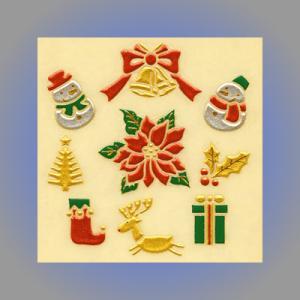 うつし蒔絵シール 「クリスマス」|kinpakuya