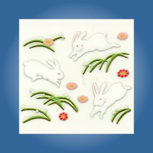 うつし蒔絵シール「跳ねウサギ」|kinpakuya