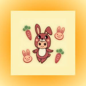 QP共和国・蒔絵ステッカー「ウサギ(兎)」|kinpakuya