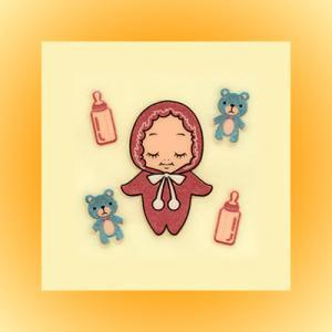 QP共和国・蒔絵ステッカー「赤ちゃん」|kinpakuya