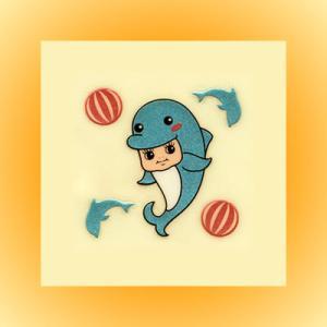 QP共和国・蒔絵ステッカー「イルカ(海豚)」|kinpakuya