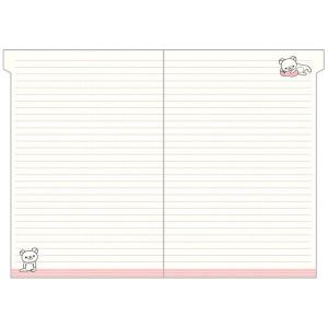 San-X リラックマ「ポケットスケジュールコレクション2020/糸とじ手帳A5(インデックス)(ME66601)」|kinpakuya|03