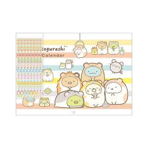 San-X すみっコぐらし「カレンダー2020/壁かけカレンダー(A4)(CD33801)」|kinpakuya