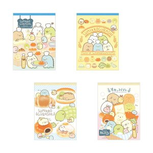 San-X すみっコぐらし「すみっコパンきょうしつ/クロスメモ(全4種)」|kinpakuya