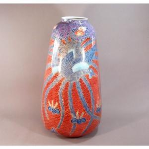 有田焼 金彩青海波鳳凰絵特大花瓶|陶芸作家 藤井...の商品画像