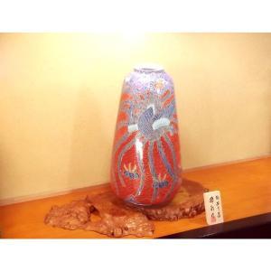 有田焼 金彩青海波鳳凰絵特大花瓶|陶芸作家 藤...の詳細画像3