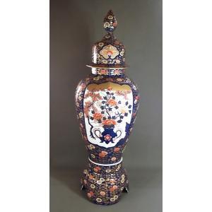 有田焼 金欄手様式花籠絵飾り特大沈香壺|陶芸作家...の商品画像