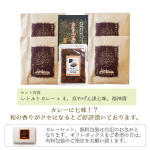 近江屋清右衛門レトルトカレーセット・黒七味入|kinse-kyo-tsukemono