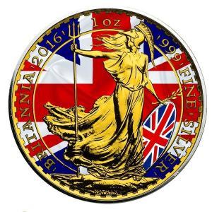 2016年発行 イギリス パトリオティックフラッグ ブリタニア銀貨