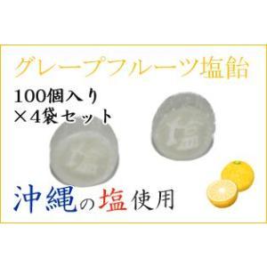 業務用 グレープフルーツ塩飴 100個入り×4袋セット 送料無料