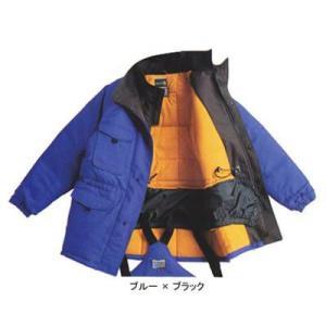 作業服 作業着 サンエス ST8000 冷凍倉庫用防寒コート L・ブルー×ブラック4|kinsyou-webshop