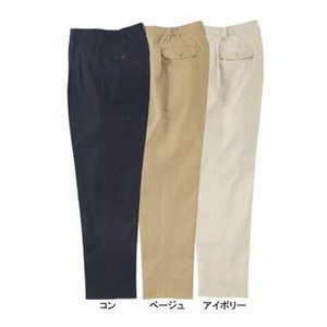 作業服 ズボン 作業着 ジーベック 12172 チノツータックレディースパンツ 7号・ベージュ30|kinsyou-webshop
