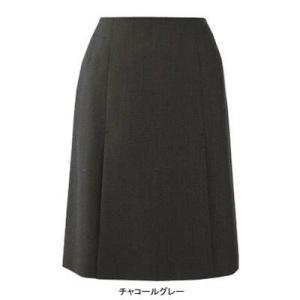 ピエ S9551 ボックスプリーツスカート 21号・チャコールグレー|kinsyou-webshop