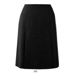 ピエ S9551 ボックスプリーツスカート 17号・クロ|kinsyou-webshop