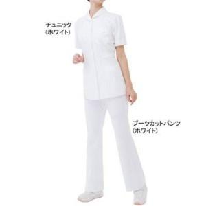ソワンクレエ 6001FK ブーツカットパンツ 4L・ホワイト|kinsyou-webshop