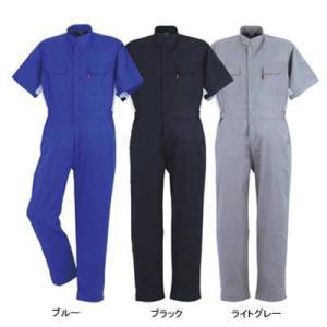 作業服 作業着 つなぎ DON 114 半袖ツナギ服 6L・ライトグレー7|kinsyou-webshop