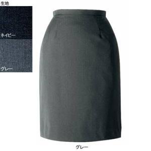 事務服 制服 ヌーヴォ FS4052 セミタイトスカート 19号・グレー2|kinsyou-webshop