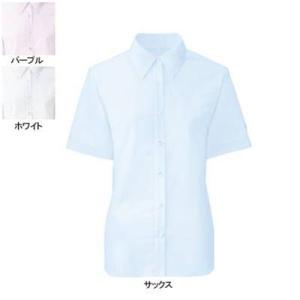 事務服 制服 ヌーヴォ FB71029 ブラウス(半袖) 9号・サックス2|kinsyou-webshop