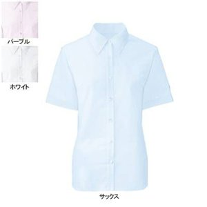 事務服 制服 ヌーヴォ FB71029 ブラウス(半袖) 11号・サックス2|kinsyou-webshop