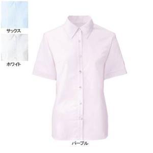 事務服 制服 ヌーヴォ FB71029 ブラウス(半袖) 11号・パープル12|kinsyou-webshop