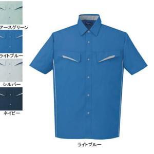 作業服 作業着 秋冬用 自重堂 85514 製品制電半袖シャツ S・ライトブルー025|kinsyou-webshop