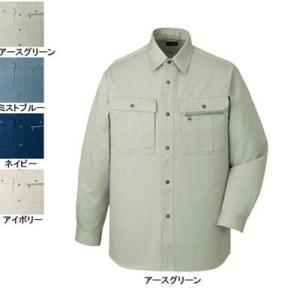 作業服 作業着 秋冬用 自重堂 41604 長袖シャツ XL・アースグリーン039 kinsyou-webshop